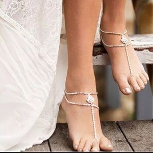 Jewelry - New pair of barefoot Sandals, Ankle bracelet